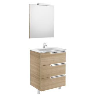Mueble Pack Family roble 60cm Victoria-N Roca