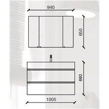 Mueble 101cm 2 cajones SPIRIT SALGAR