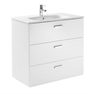 Mueble 3 cajones blanco 80cm Victoria Basic Roca