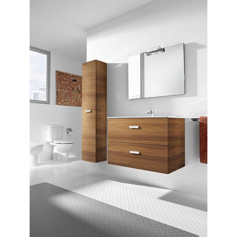Mueble pack nogal 100cm victoria basic roca materiales for Muebles la fabrica vic