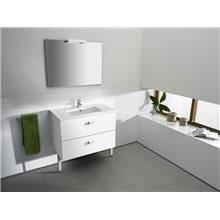 Mueble 2 cajones blanco 80cm Victoria Basic Roca