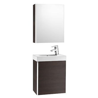 Mueble wenge con armario-espejo Mini Roca