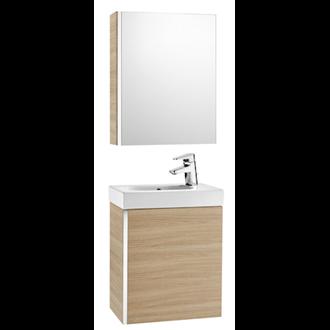 Mueble roble con armario-espejo Mini Roca