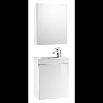 Mueble blanco con armario-espejo Mini Roca