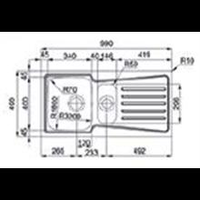 Fregadero Evolution 100B 1/2B Flat TEGLER