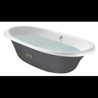 Bañera oval gris Newcast ROCA