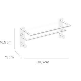 Toallero 40 cm doble con 2 perchas SENSA CO2+