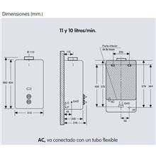 Calentador Electro butano 10L EDESA