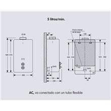 Calentador Electro butano 5L EDESA