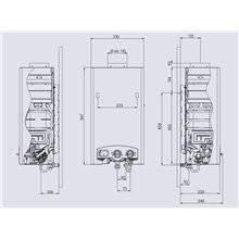 Calentador Electrónico butano 11L Edesa