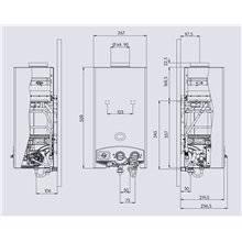 Calentador Electrónico Butano 6L Edesa