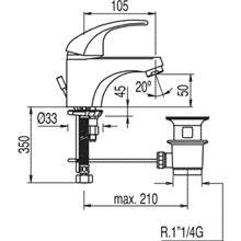 Grifo de lavabo con desagüe ECO MONO-TRES 2000
