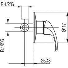 Grifo empotrado de 1 vía MONO-TRES 2000