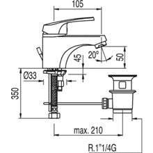 Grifo de lavabo con desagüe ECO-TRES