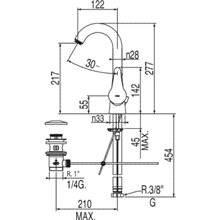 Grifo de lavabo giratorio con desagüe ECO-TRES