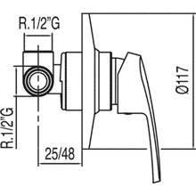 Grifo empotrado de 1 vía ECO-TRES