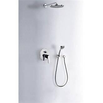 Conjunto ducha empotrado de 2 vías BASIC ECO-TRES