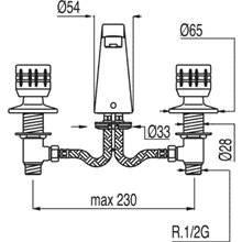 Grifo de lavabo en batería ESE-23 TRES