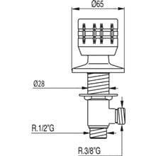 Grifo de 1 agua lateral ESE-23 TRES