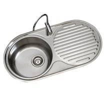 Fregadero de cocina de 1 seno con escurridor Timblau