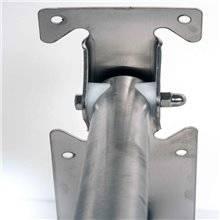 Barra de apoyo basculante satinada de 75cm para inodoro Timblau