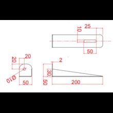 Soporte simple para lavamanos Timblau
