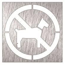 Señal prohibido animales Timblau