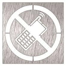 Señal prohibido uso de móviles Timblau