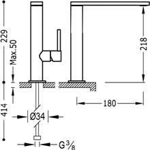 Grifo de lavabo Max-Tres caño medio con maneta ECO