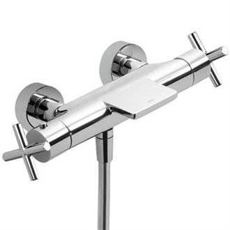 Grifo de bañera-ducha termostática ECO Max-Tres manetas cruz