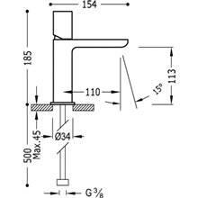 Grifo de lavabo redondo Loft-Tres