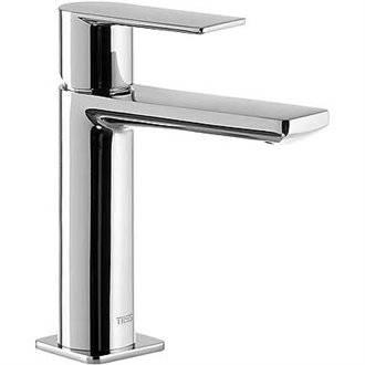 Grifo de lavabo Loft-Tres caño cascada horizontal con maneta