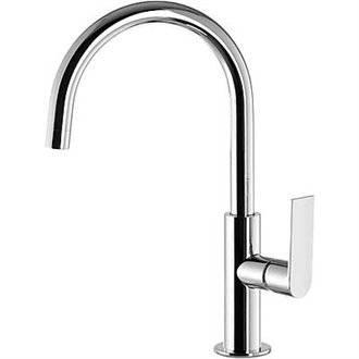 Grifo de lavabo Loft-Tres 32,4cm x 17,3cm con maneta ECO