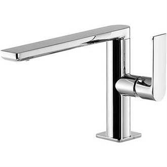 Grifo de lavabo Loft-Tres caño bajo con maneta ECO