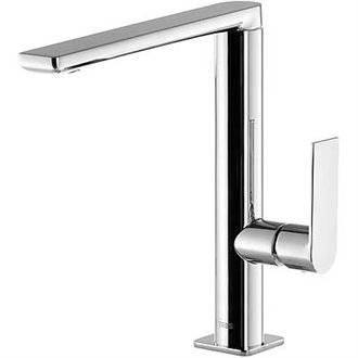 Grifo de lavabo Loft-Tres caño medio con maneta ECO