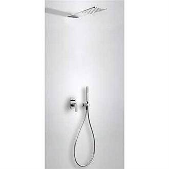 Kit de ducha monomando empotrado Loft-Tres INOX