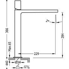 Grifo de lavabo Class-Tres caño largo