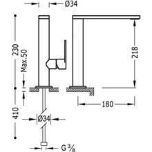 Grifo de lavabo Class-Tres 23cm x 18cm con maneta ECO