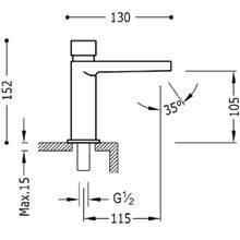 Grifo de lavabo temporizado Class-Tres 1 agua