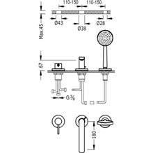 Combinación para bañera Alplus dos medidas