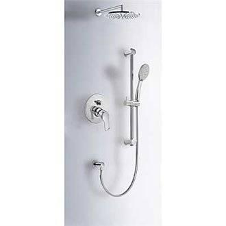 Kit de ducha empotrado K-Tres barra deslizante