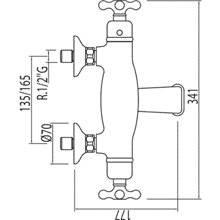 Grifo de bañera-ducha termostática ECO Monoclasic 1900