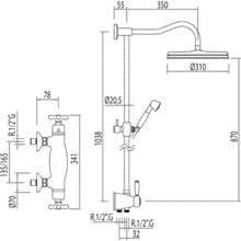 Conjunto de ducha termostática ECO Monoclasic 1900