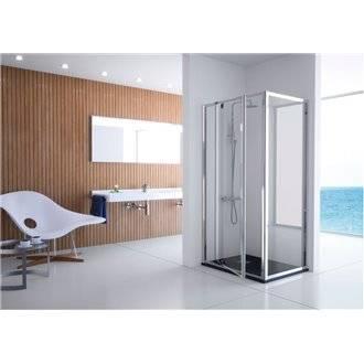 Juego de 4 regulable para mampara de ducha de soportes