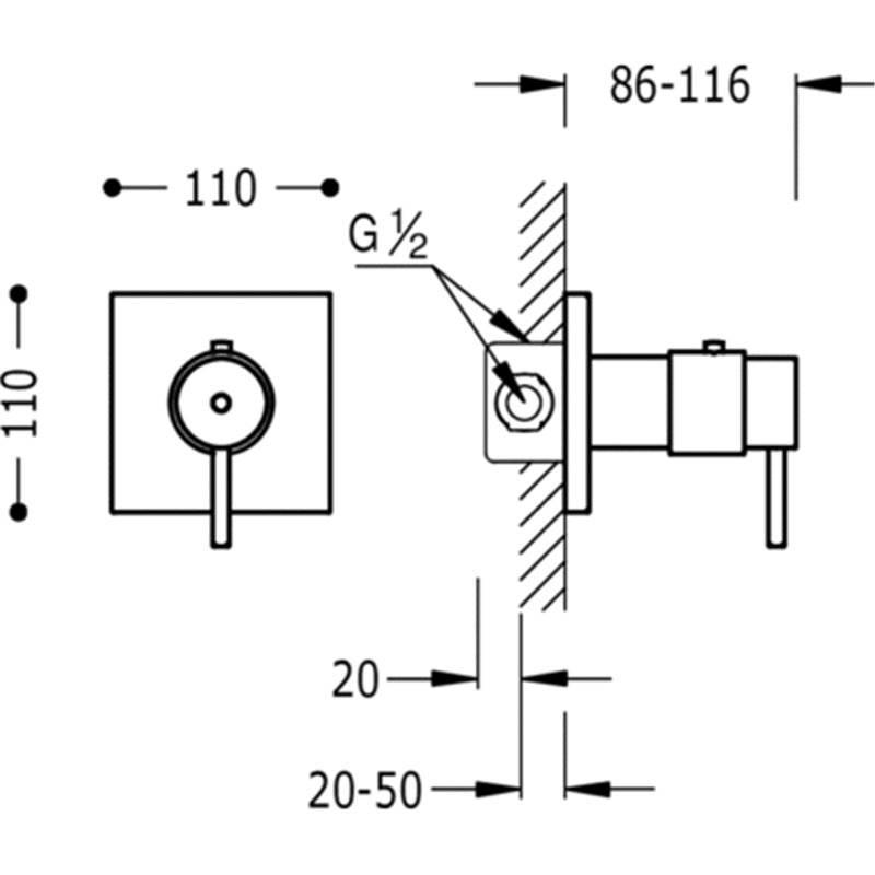 Grifo termost tico de empotrar ducha compact tres materiales de f brica - Como funciona grifo termostatico ...