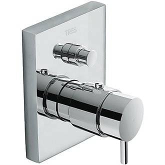 Grifo termostático de empotrar baño-ducha Compact Tres