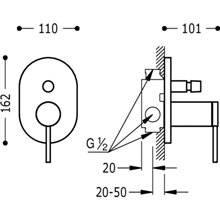 Grifo de empotrar de 2 vías MONO-TERM Max-Tres
