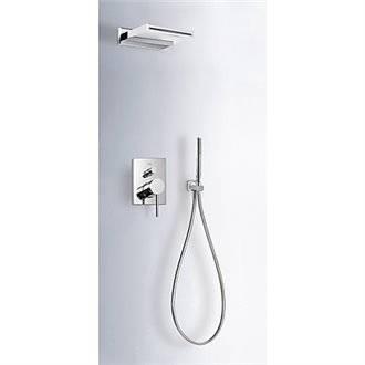 Kit de ducha empotrado MONO-TERM Tres INOX con cascada