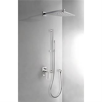 Kit de ducha empotrado CUADRO Tres barra deslizante
