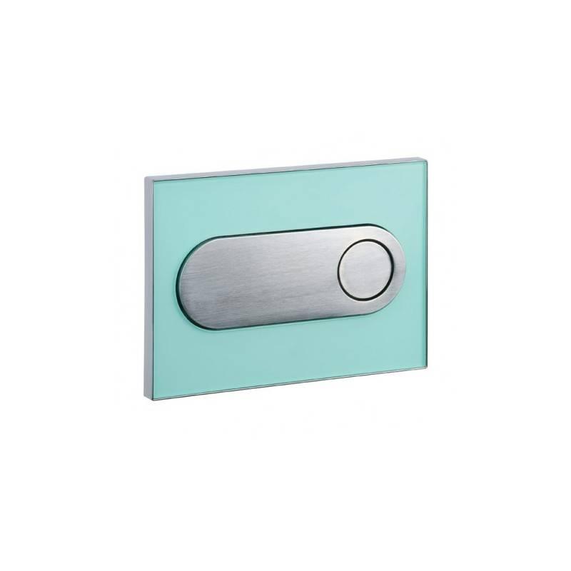 Placa en cromo vidrio verde MOON